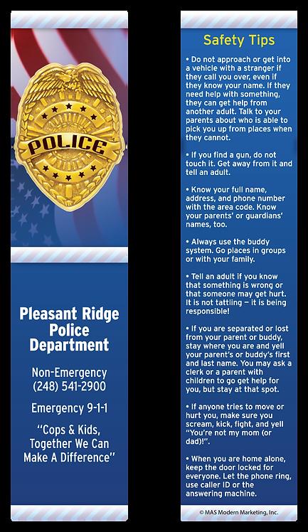 Police Bookmark