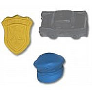 Police Assorted Pencil Top Erasers