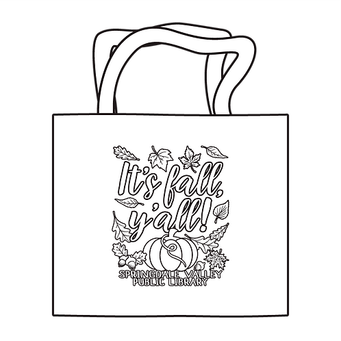 It's Fall Y'all! Coloring Tote
