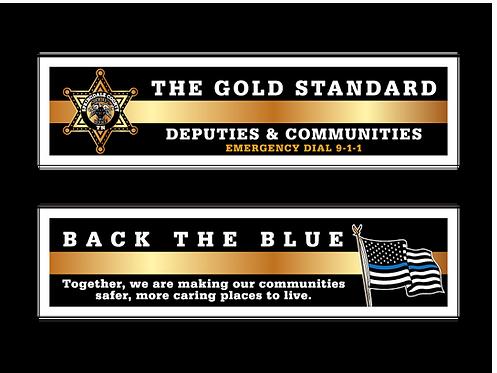 6pt. Star Deputies & Communities (Gold Standard/Back The Blue) Bookmarks