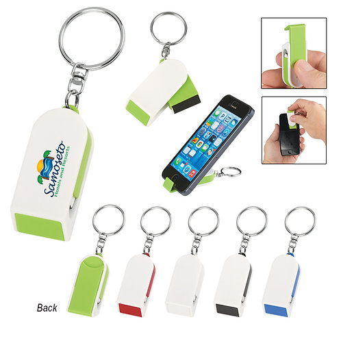Phone Stand & Screen Cleaner Combo Keychain