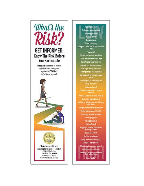 Know The Risk (COVID-19) Bookmark