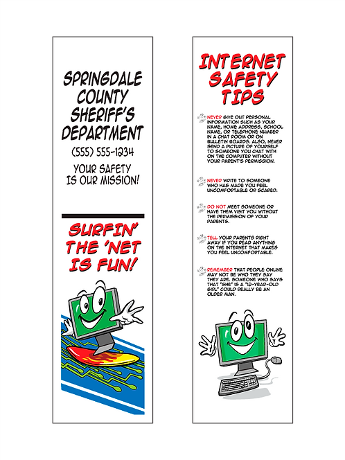 Internet Safety Bookmarks