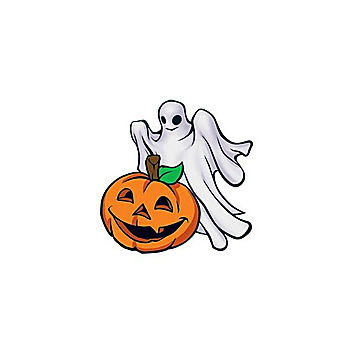 Pumpkin And Ghost Temporary Tattoo