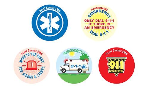 9-1-1 Asst. Stickers