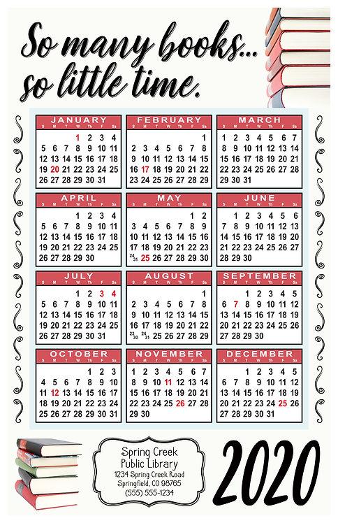 So Many Books So Little Time Wall Calendar