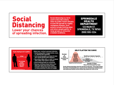 Social Distancing Bookmark