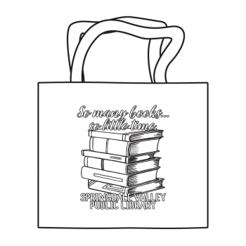 So Many Books Coloring Tote