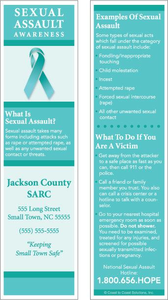 Sexual Assualt Awareness (Bookmarks)