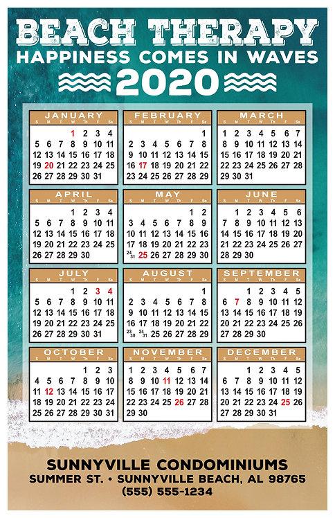Beach Therapy Wall Calendar