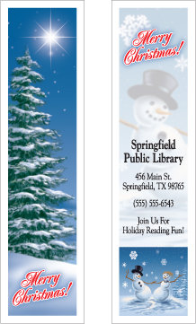 Christmas Holiday Scene (Bookmarks)