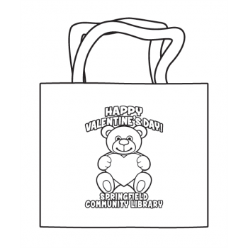 Valentines's Day Coloring Tote