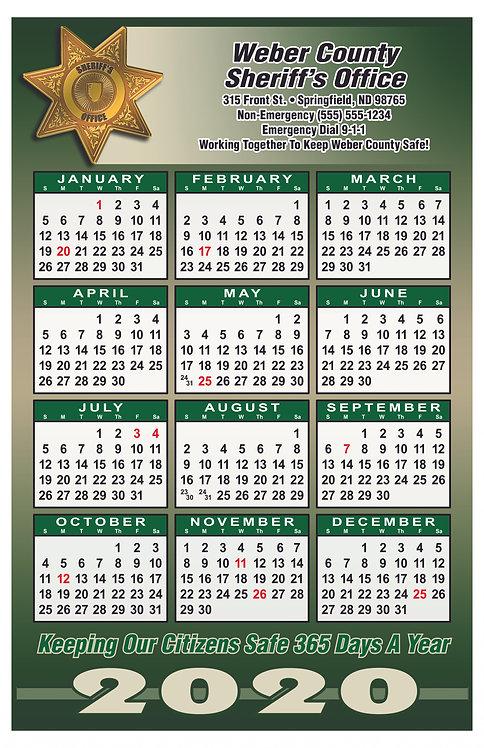 7pt Sheriff Wall Calendar