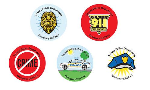 Generic Police Symbols Stickers