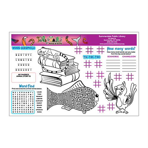 Tails & Tales Activity Sheets