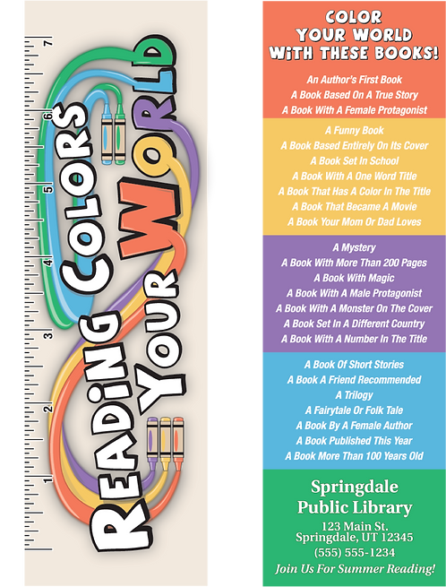 Reading Colors Your World Ruler Bookmark Combo