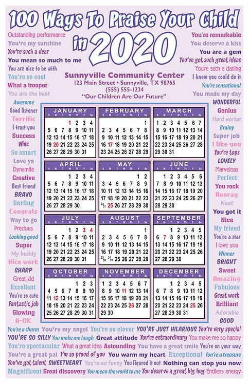100 Ways To Praise A Child Wall Calendar
