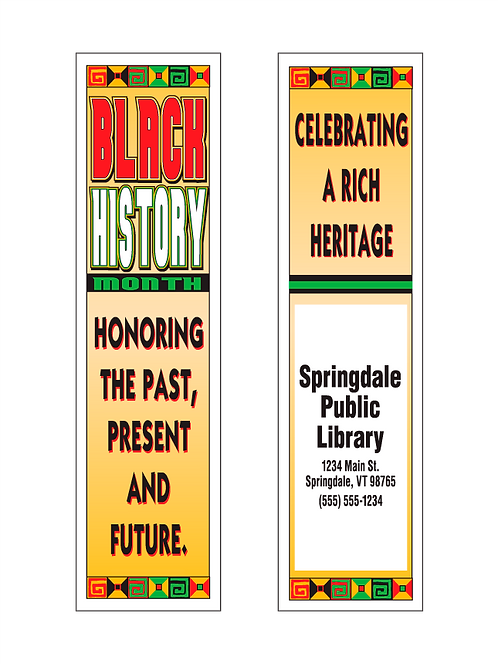 Honor The Past (Black History Month) Bookmark