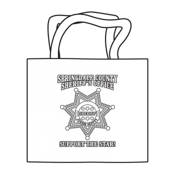 Sheriff 7pt Badge Coloring Tote