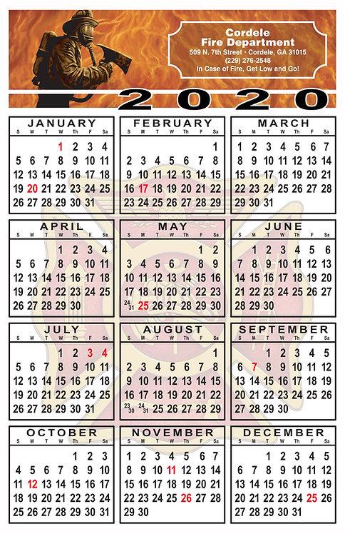 Fire Fighter Wall Calendar