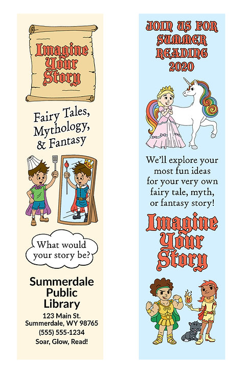 Imagine Your Story (Scroll) Bookmark