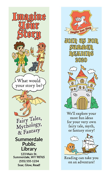 Imagine Your Story (Shield) Bookmark