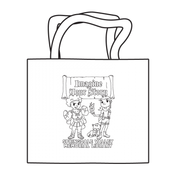 Imagine Your Story (Scroll) Coloring Tote