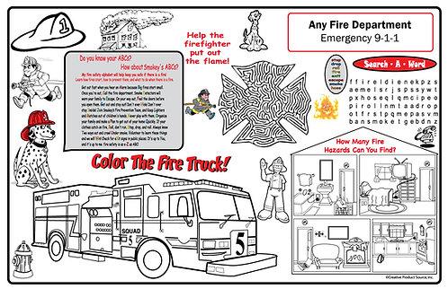 Fire Department Activity Sheet