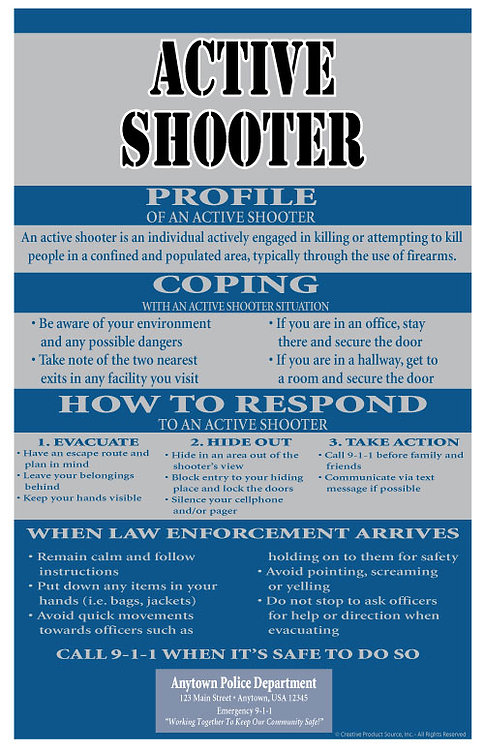 Active Shooter Poster