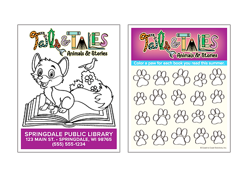 Tails & Tales Reading Log Activity Cards