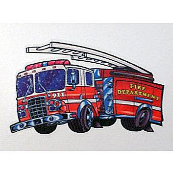 Fire Truck Temporary Tattoo