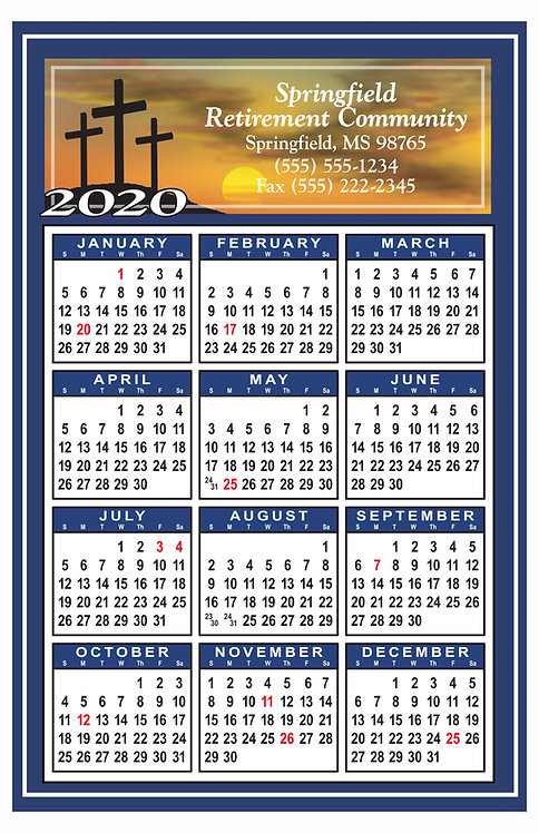 Cross Calendar