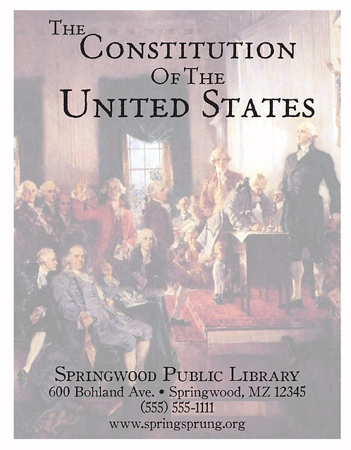 The Constitution Of The United States Information Book