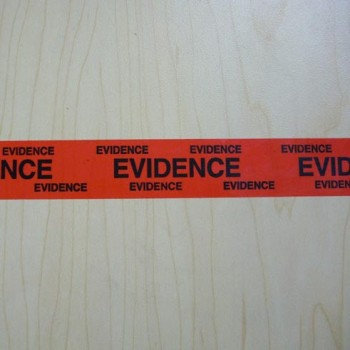 "1"" and 2"" Red Evidence Tape"