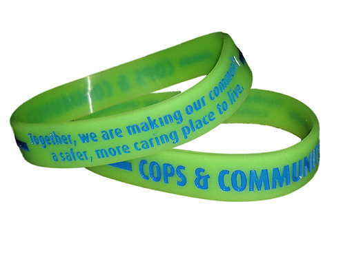 Cops & Community Glow In The Dark Silicone Bracelet