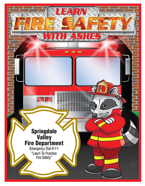 Fire Safety (Ashes) Coloring Book