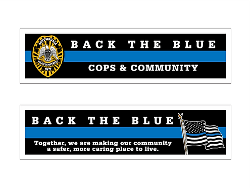 Cops & Community (Back The Blue) Bookmarks