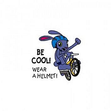 Be Cool Wear A Helmet Temporary Tattoo
