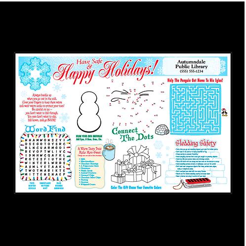 Winter Holiday Activity Sheet