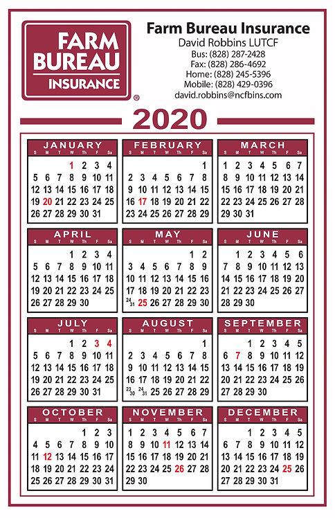 Farm Bureau Insurance Wall Calendar