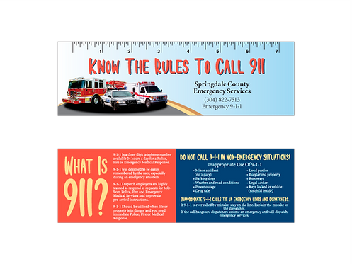 Know When To Call 9-1-1 Bookmarks