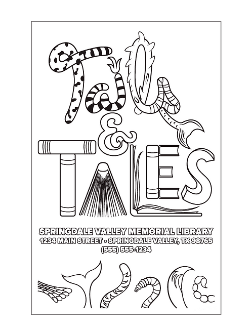 Tails & Tales Coloring Posters