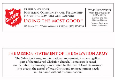 Salvation Army (Services/Mission Statement) Bookmark