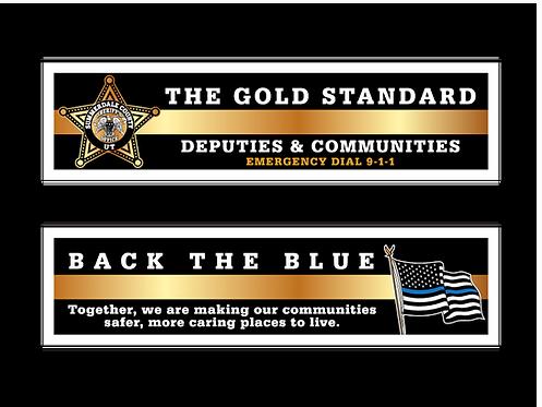 5pt. Star Deputies & Communities (Gold Standard/Back The Blue) Bookmarks