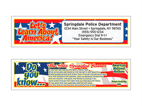 Star Spangled Banner Bookmarks