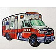 Ambulance Temporary Tattoo