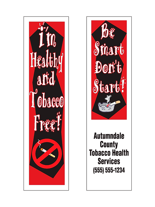 Tobacco Free Bookmarks