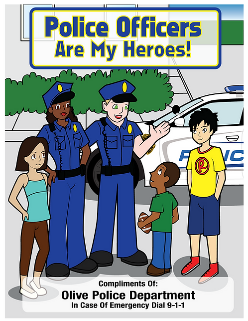 Police Officers Are My Heroes Coloring Book