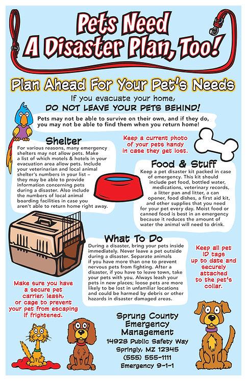 Pet Disaster Plan Poster