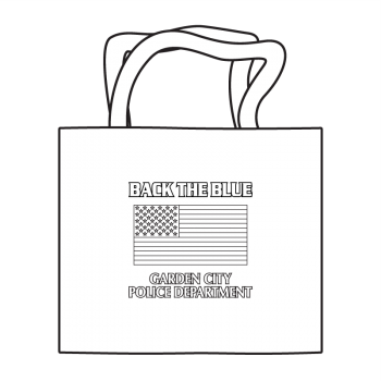 Back The Blue Coloring Tote